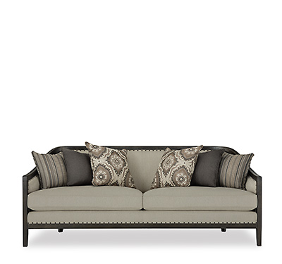 Colburn Taupe Fabric Sofa. Shop Now.