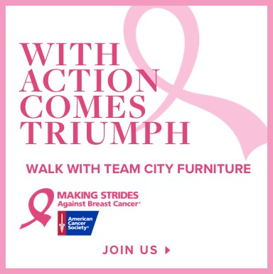 With Action Comes Triumph. Walk with Team City Furniture. Join Us.