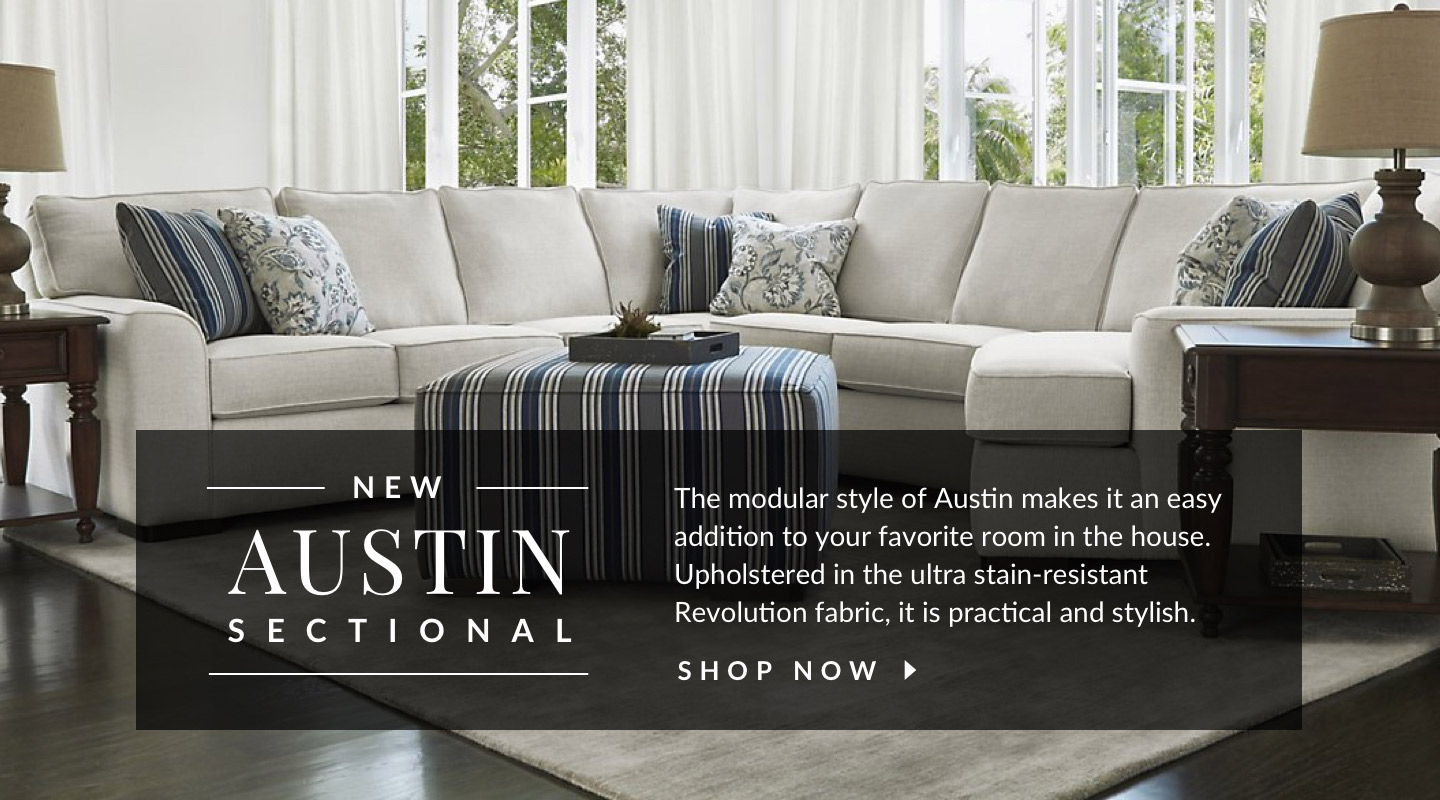 The Austin Sectional. Shop Now.